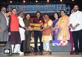 Mohan Babu felicitated by TSR Kakatiya Lalitha Kala Parishat Gallery