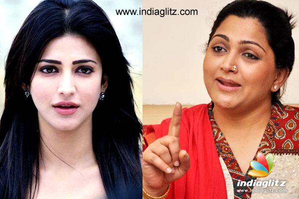 Khushbu Sundar Lashes Out At Actress Shruti Haasan - Read Deets