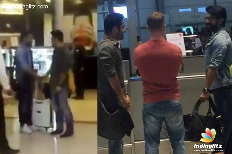 NTR and Ram Charan spotted at AIRPORT, Together for Rajamouli film