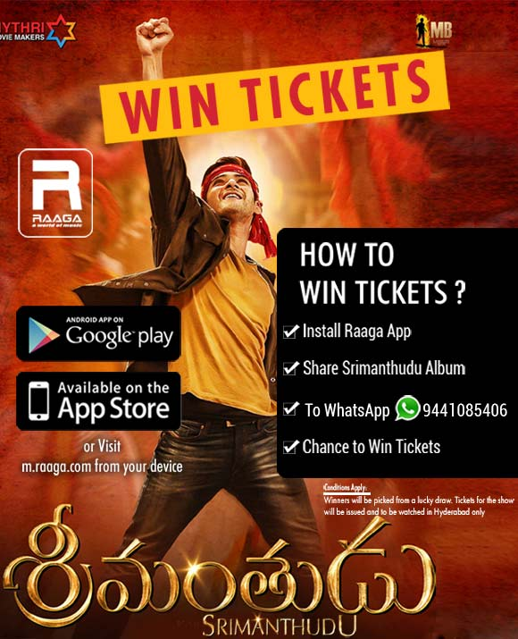 WIN TICKETS FOR 'SRIMANTHUDU'